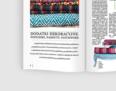 Furniture production magazine layout