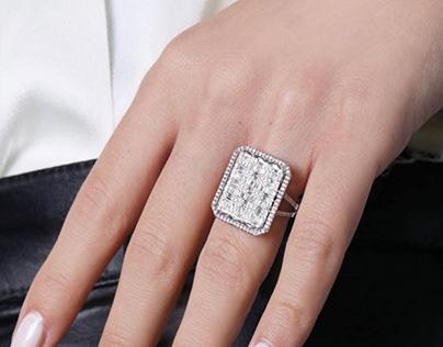 1,66 Carat Baguette Ring