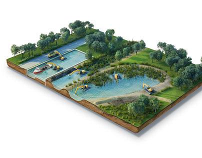 Island 3d illustration