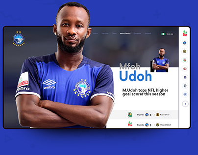 Enyimba FC Website Redesign