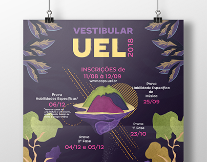 Proposta do Cartaz de Vestibular UEL 2018