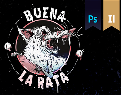 Buena la Rata // SkateBoards illustration