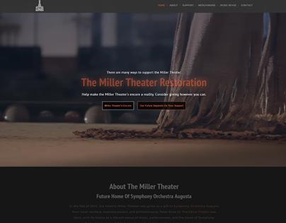Miller Theater Restoration Website