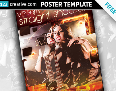 Free VIP party poster template