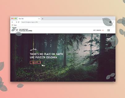National Park website design (FREE .XD)