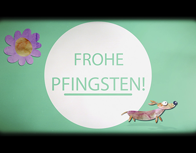Animation - Liquid Pfingstgrüße