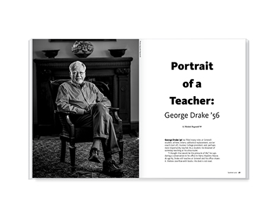 Portrait of a Teacher – magazine feature design