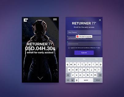 Returner 77 Mobile Landing Page