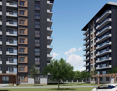 exterior design and building architecture