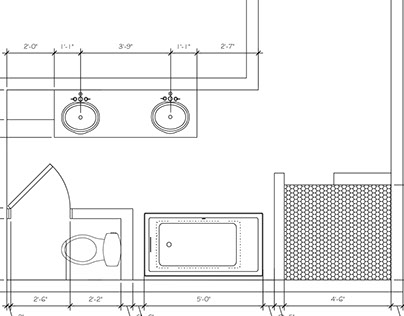 Bellew-Jordon House Master Bath Plan View