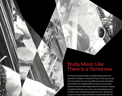 The New School's College of Performing Arts ads