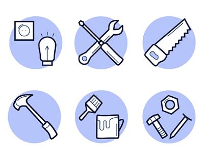 Construction icon set Набор иконок