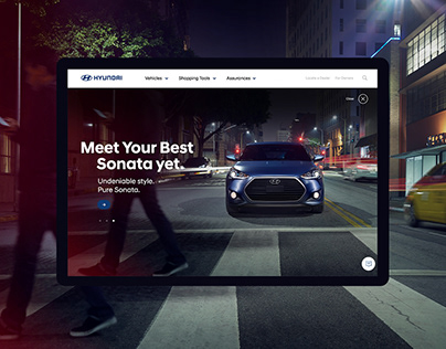 Hyundai website UX experiments.