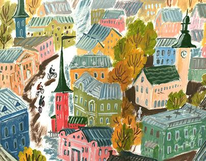 """Illustrations for """"Leva's Childhood"""" by Boris Minaev"""