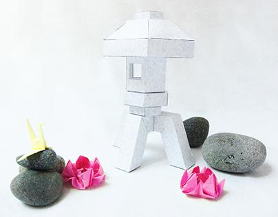 Paper Japanese Stone Lantern