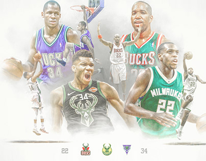 Milwaukee Bucks - 22 & 34: by Brett Gemas