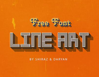 "|| LINE ART FONT || ""FREE FONT / FREE LICENSE"""
