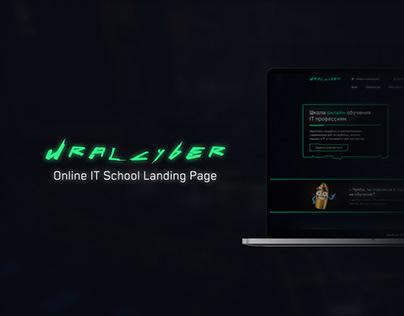 Uralcyber – Online IT School Landing Page