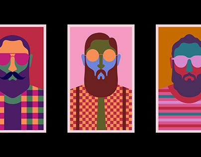 3 Hipster guys