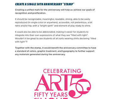 Anniversary Graphic / Calvin College Art Dept.