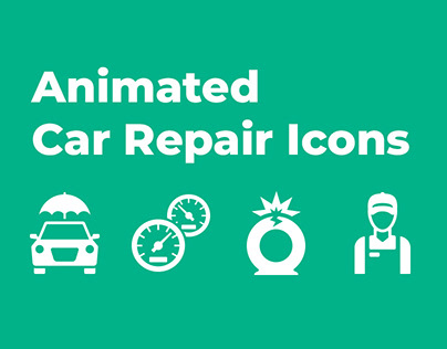Animated Car Repair Icons