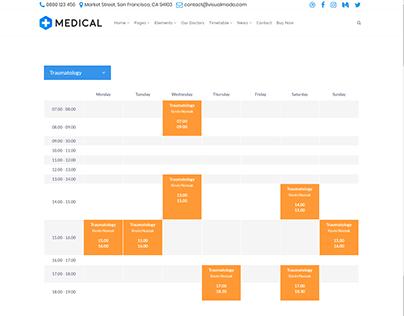 Timetable Traumatology - Medical WordPress Theme