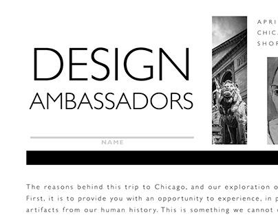 Design Ambassadors - Field Trip Handout