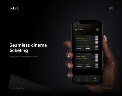 Ticketi: Cinema ticketing app design