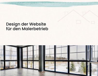 Design der Webseite für den Malerbetrieb
