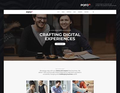 Pofo WordPress Theme - Interactive Agency