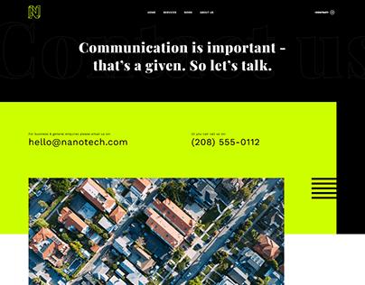 Tech company contact page
