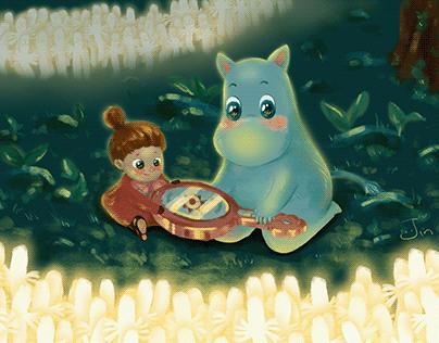 Moomin, Little My - Illustration