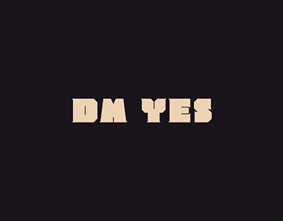 dm Yes Free Font