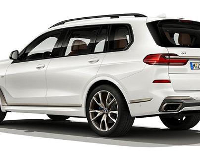 White BMW X7