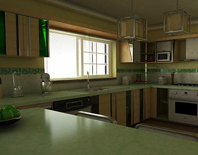 Diseño de Cocina para vivienda Unifamiliar