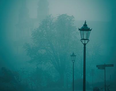 Misty morning in Krakow