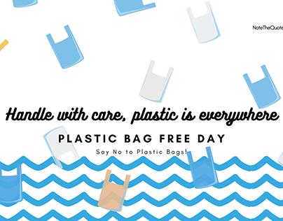 International Plastic Bag Free Day Quotes, slogan