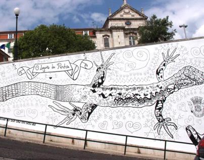 Lizard Wall I Penha de França, Lisbon, Portugal