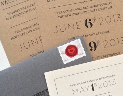 Krista & Nic's Wedding Invititations