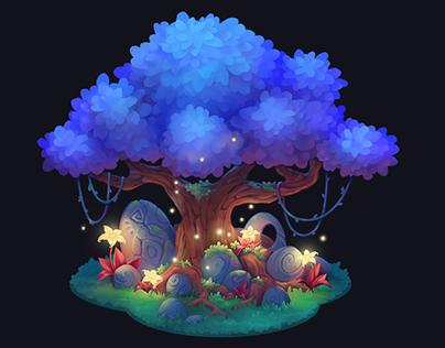 Magic tree/ Game art