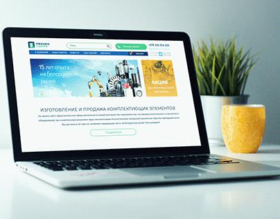 Редизайн интернет-магазина оборудования (Bootstrap 4)