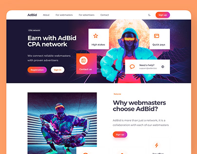 CPA Network Landing Page