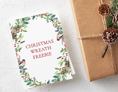 Christmas Wreath Freebie Free download