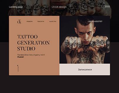 Tattoo studio landing page