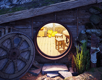 Cabin in Northern Norway   CGI