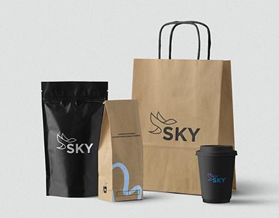 Logo branding for SKY - roadside cafe
