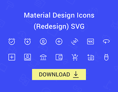 FREE   Material Design Icons (Redesign) SVG