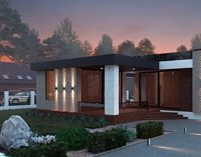 Modern house in Krasnodar