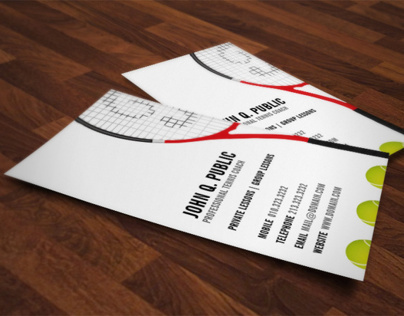 Tennis Coach Personal Trainer Business Cards