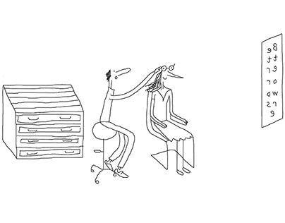 Cartoon/freehand illustration, drawing, illustrator